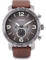 Fossil NATE Analog Watch - For Men Brown - JR1424
