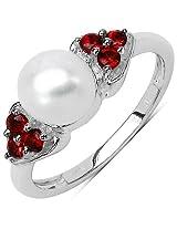 Silverona Pearl Silver Ring