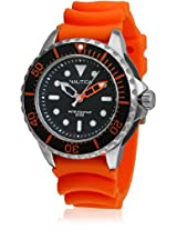 A18633 Orange/Black Analog Watch