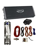 Boss AR3000.2 3000 Watt 2-Channel Car Amplifier + 3.0 Farad Capacitor + Amp Kit