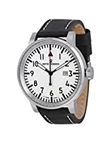 Revue Thommen Air Speed White Dial Black Leather Men's Watch - Rvt-16053-1532