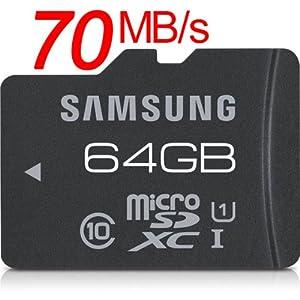 Samsung microSDXC Pro 64GB UHS-I Read 70MB/s サムスン 並行輸入品