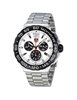 Tag Heuer Formula 1 Chronograph White Dial Stainless Steel Men's Watch (CAU1111.BA0858)