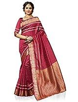 Meghdoot Artificial Tussar Silk Saree (SIYAA_MT1097_MAROON Woven Maroon Colour Sari)