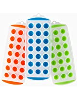 Lily's Home Ice Cube Trays with Easy Push Pop Out Mini Ice Cubes. Pack of 3