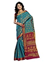Alankrita Ananda X Rani Color Allover Weaving Jari Brocket Design Saree With Stones