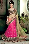 Net Lehenga Saree In Pink and Black Colour 5850
