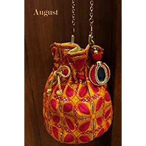 August by Ritu Cipy Drawstring Threadwork Bag