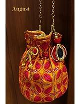 August by Ritu Cipy Drawstring Threadwork Bag