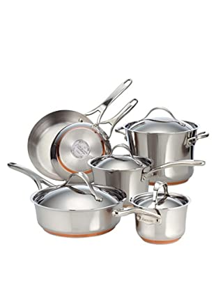 Anolon Nouvelle Copper Stainless Steel 10-Piece Cookware Set