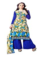 Ragini blue colored dress material