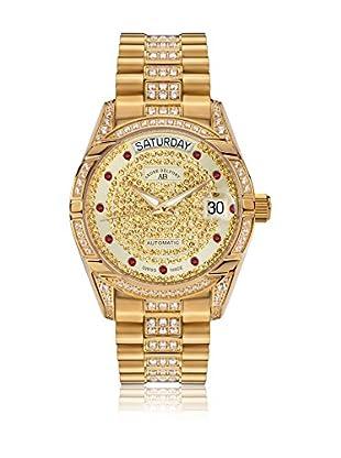 André Belfort Uhr mit schweizer Automatikuhrwerk Woman Comète goldfarben 35 mm