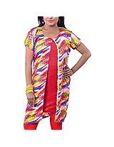 Riiti Designs Multi-Coloured Cotton Round Neck Kurti for Women