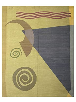 French Accents Modern Flatweave Killim Rug (Landscape Multi)