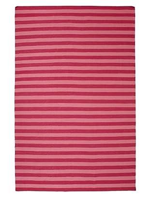 Flatweave Pink Stripes, 6' x 9'