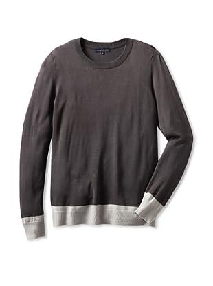 Jacob Holston Men's Holt Colorblock Crew Neck Sweater (Charcoal)