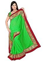 Chinco Banarasi Saree With Blouse Piece (1205-C_Green)