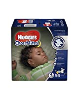 Huggies Overnites Diapers, Size 4, 56 Count