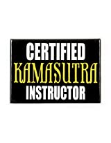 Happily Unmarried 'Kamasutra Instructor' Magnet (Black)
