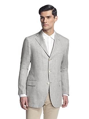 Salvatore Ferragamo Men's Sport Jacket (Light Grey)