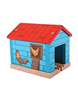 Bigjigs Toys Rail Chicken Shed Tunnel Train