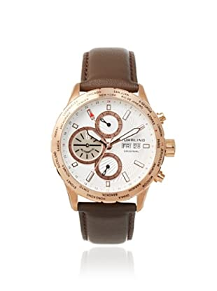 Stuhrling Men's 497.02 Classic Brown Stainless Steel Watch