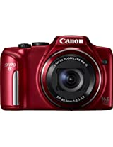 Canon Powershot SX170 16MP Point and Shoot Camera (Red) with 16x Optical Zoom, 8GB Memory Card and Camera Case
