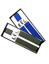 Sunshopping men's royal blue and red suspender(WSDWSDSC00019) (navy blue & green)