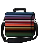 Designer Sleeves Retro Stripes Executive Case for 13-Inch Laptop, Red (13ES-RS)