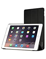 Rock Touch Smart PU Leather Flip Cover Case For Apple iPad Air 2 6th Gen - Black
