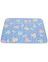 A'la Mode Creation 1 Waterproof Padded Large Bed Protection Mat Blue 24 x 36 Inches