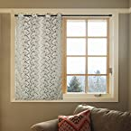 Ekya Premium Sheer Floral Fabric Window Curtain with Eyelets - 48