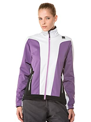Sportful Chaqueta Crosscountry St. Moritz (Blanco / Violeta)