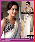 Bipasha Basu White Net Bollywood Saree