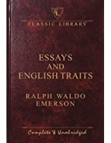 Essays & English Traits (Wilco Classic Library)