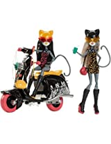 Monster High Werecats Sisters And Scooter Bring A Friend To Go On Unique Adventures