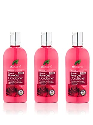 Dr.Organic Set 3 Acondiconador para el Cabello de Rosa de Mosqueta 265 ml (u)