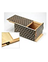 Yosegi Japanese Puzzle Box [ 5 Sun 21 Moves + 1 Gimmick (Hidden Room) ] Black (Kuroasa)