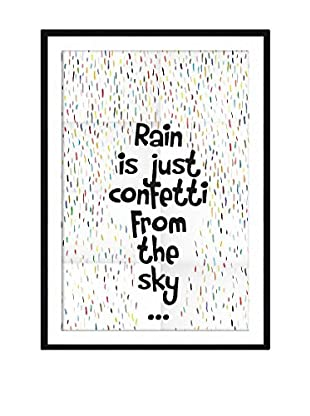 Little Nice Things Wandbild Rain Confetti