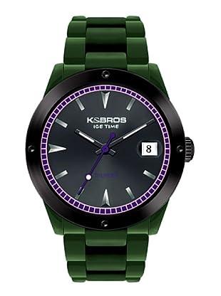 K&BROS 9556-7 / Reloj Unisex  con correa de caucho Verde