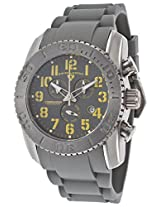 Commander Titanium Grey Silicone And Dial Yellow Accents (11876-Ti-014-Ya)