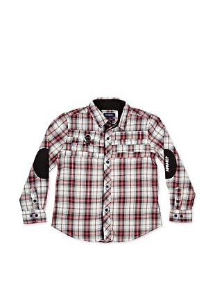 Seaman Camisa Con Coderas (Rojo / Blanco)