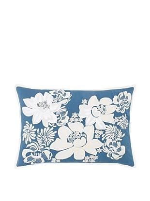 1891 by SFERRA Celia Decorative Pillow, Teal, 14x22