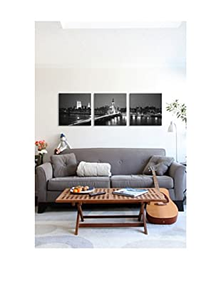 London Panoramic Giclée Canvas Print Triptych