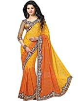 Ethnic Station Chiffon Stone Work Saree (Ss1033 _Yellow)
