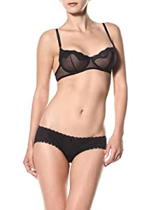 Cosabella Women's Deco Low Rise Hotpants (Pack of 2) (Black)