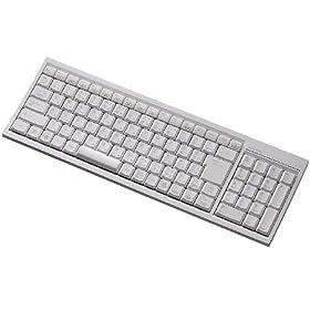 : ELECOM Bluetooth2.0対応ワイヤレスフルキーボード スタンダードサイズ ホワイト (PS3対応) TK-FBP014WH