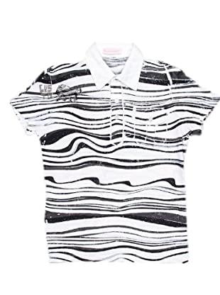 Custo Polo White Smoke (blanco / negro)