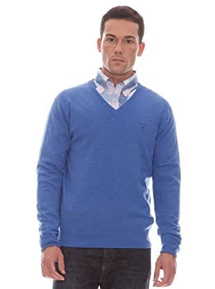 Gant Jersey Liso Pico (azul royal)