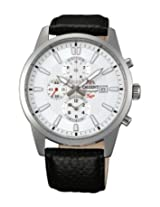 Orient Analogue White Dial Men Watch - (TT12005W)